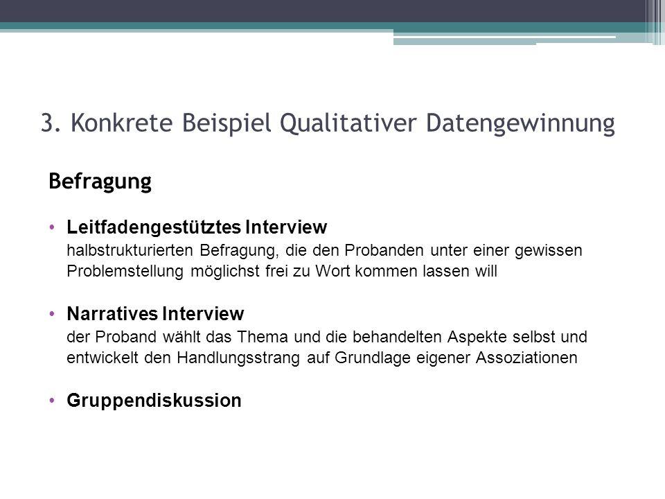 3. Konkrete Beispiel Qualitativer Datengewinnung