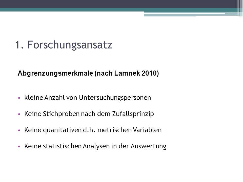 1. Forschungsansatz Abgrenzungsmerkmale (nach Lamnek 2010)