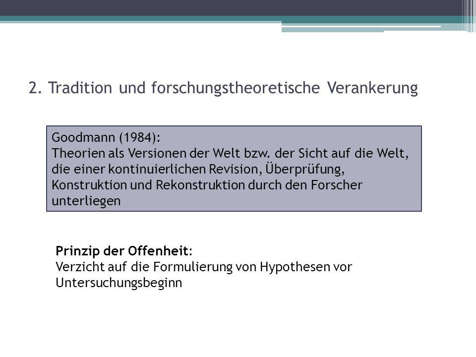 2. Tradition und forschungstheoretische Verankerung