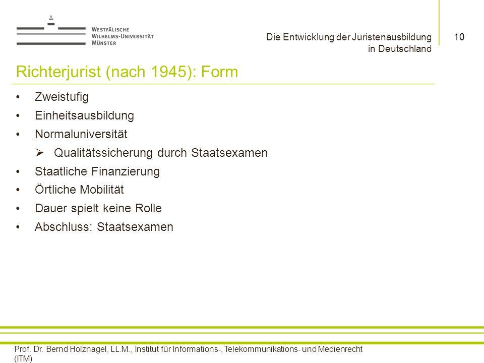 Richterjurist (nach 1945): Form