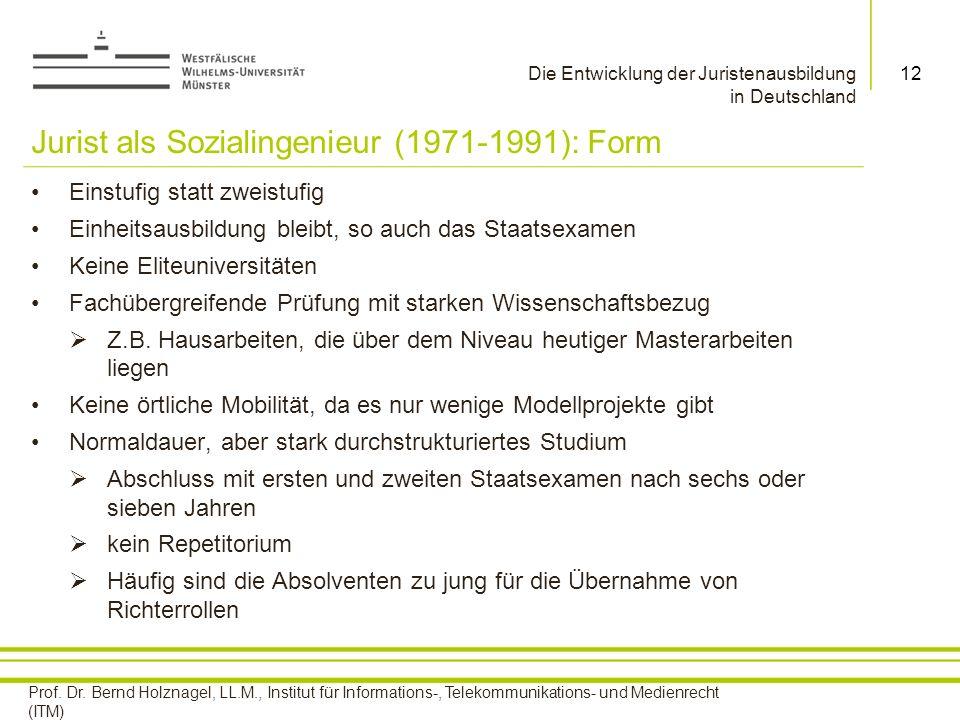 Jurist als Sozialingenieur (1971-1991): Form