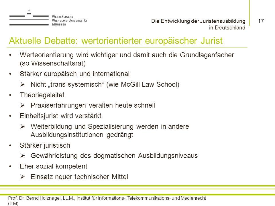 Aktuelle Debatte: wertorientierter europäischer Jurist