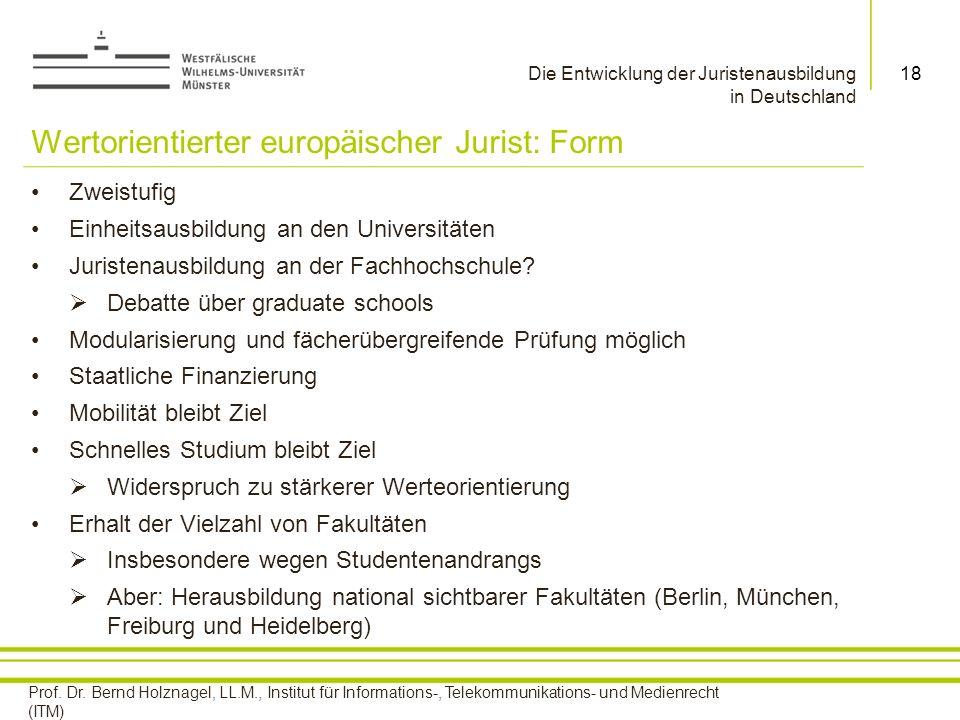 Wertorientierter europäischer Jurist: Form