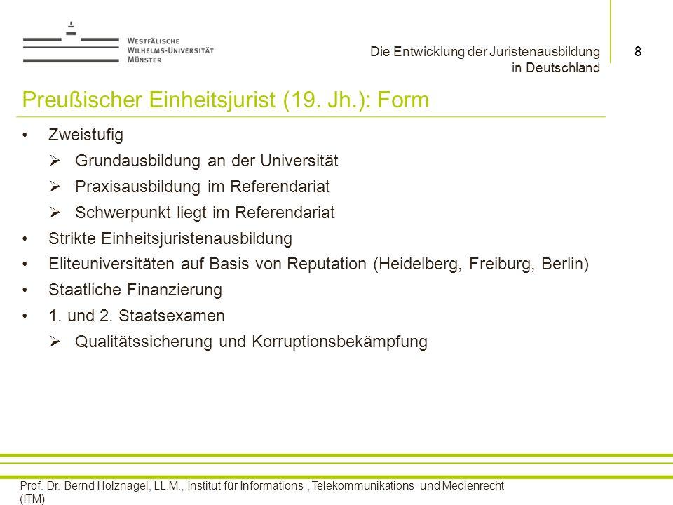 Preußischer Einheitsjurist (19. Jh.): Form