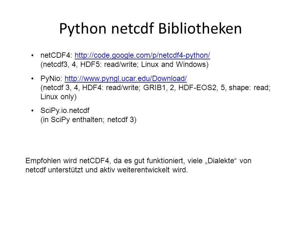 Python netcdf Bibliotheken