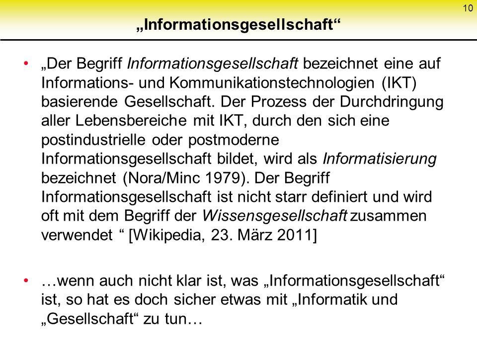 """""""Informationsgesellschaft"""