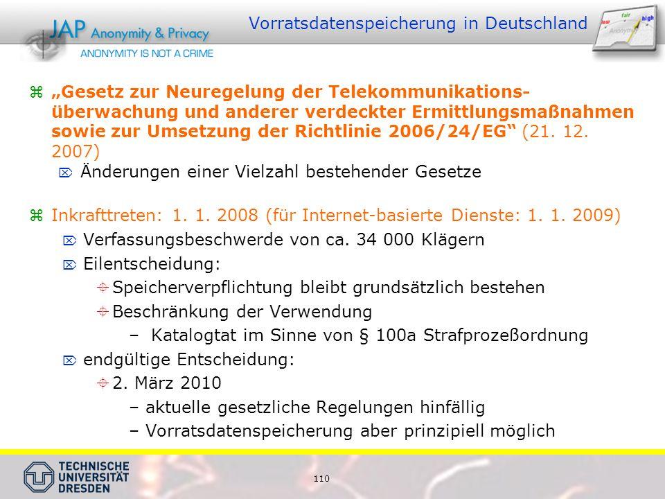 Vorratsdatenspeicherung in Deutschland