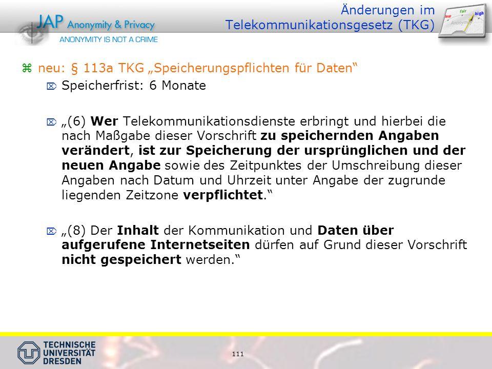 Änderungen im Telekommunikationsgesetz (TKG)