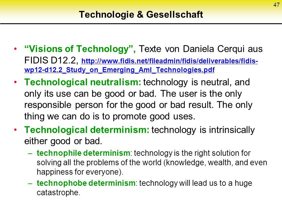 Technologie & Gesellschaft