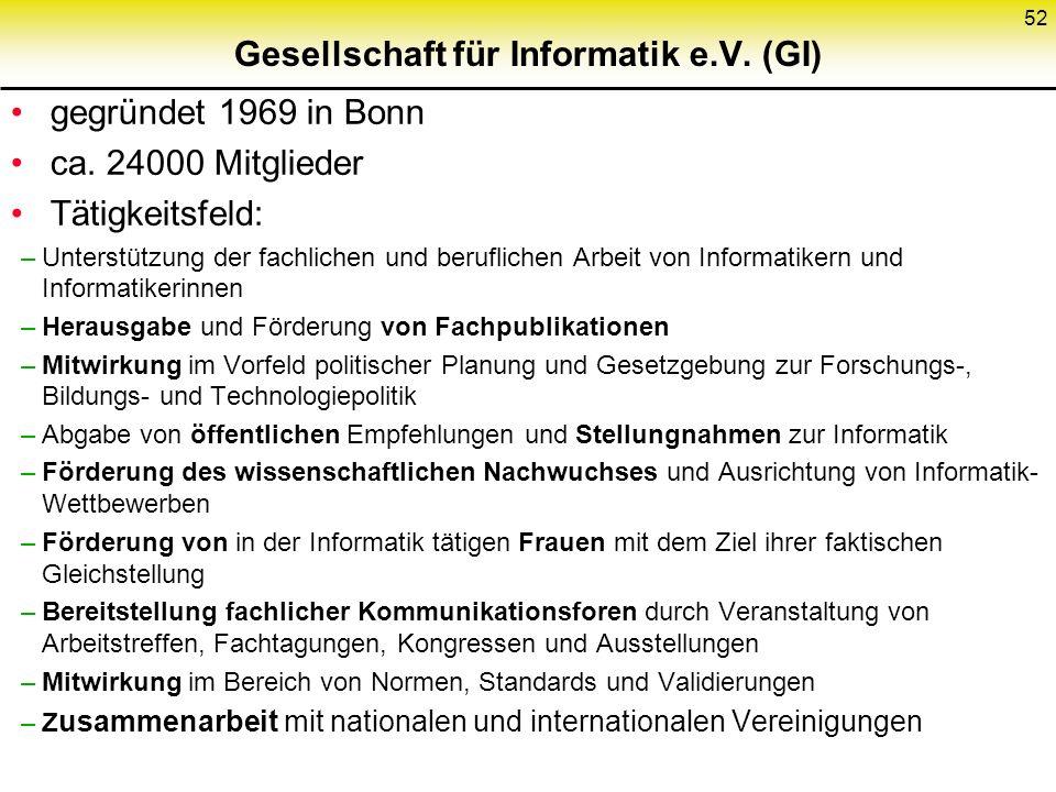 Gesellschaft für Informatik e.V. (GI)