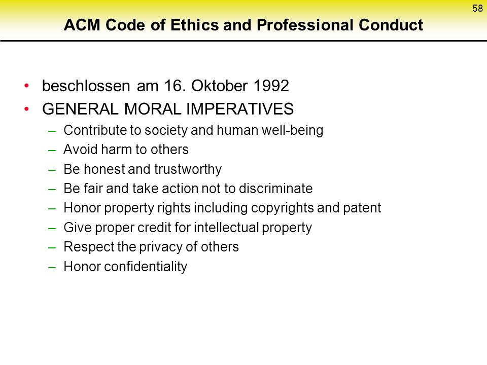 ACM Code of Ethics and Professional Conduct