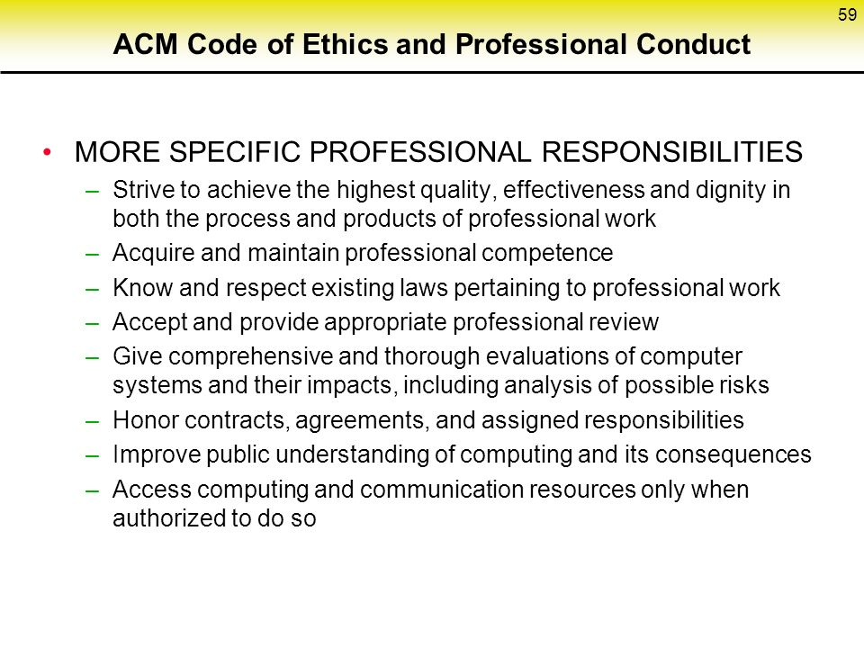 Acm code of ethics and professional conduct pdf