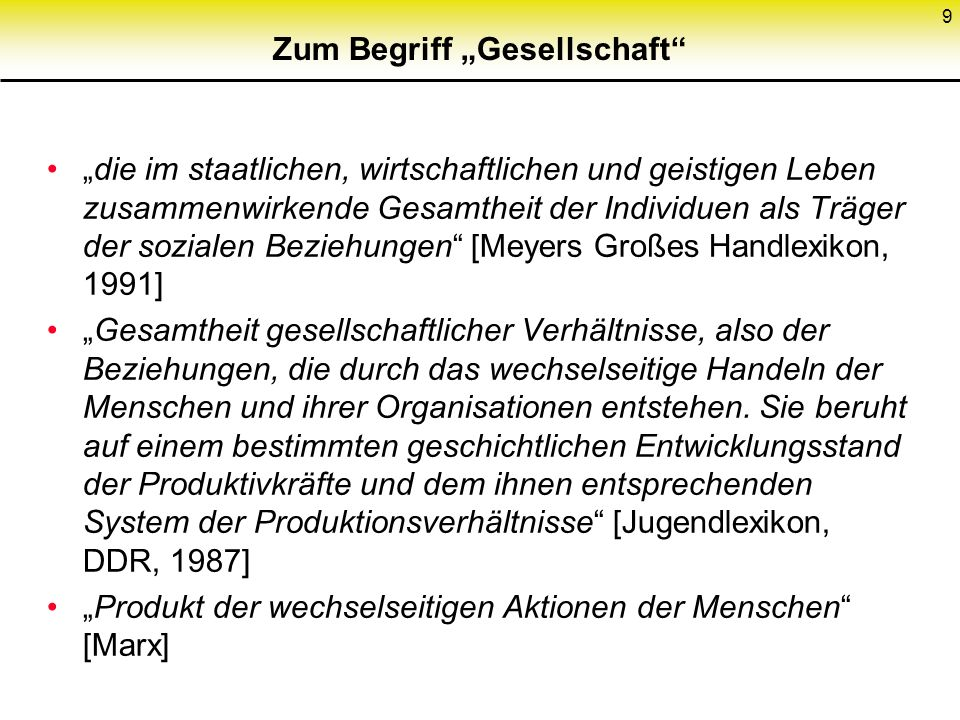 """Zum Begriff """"Gesellschaft"""