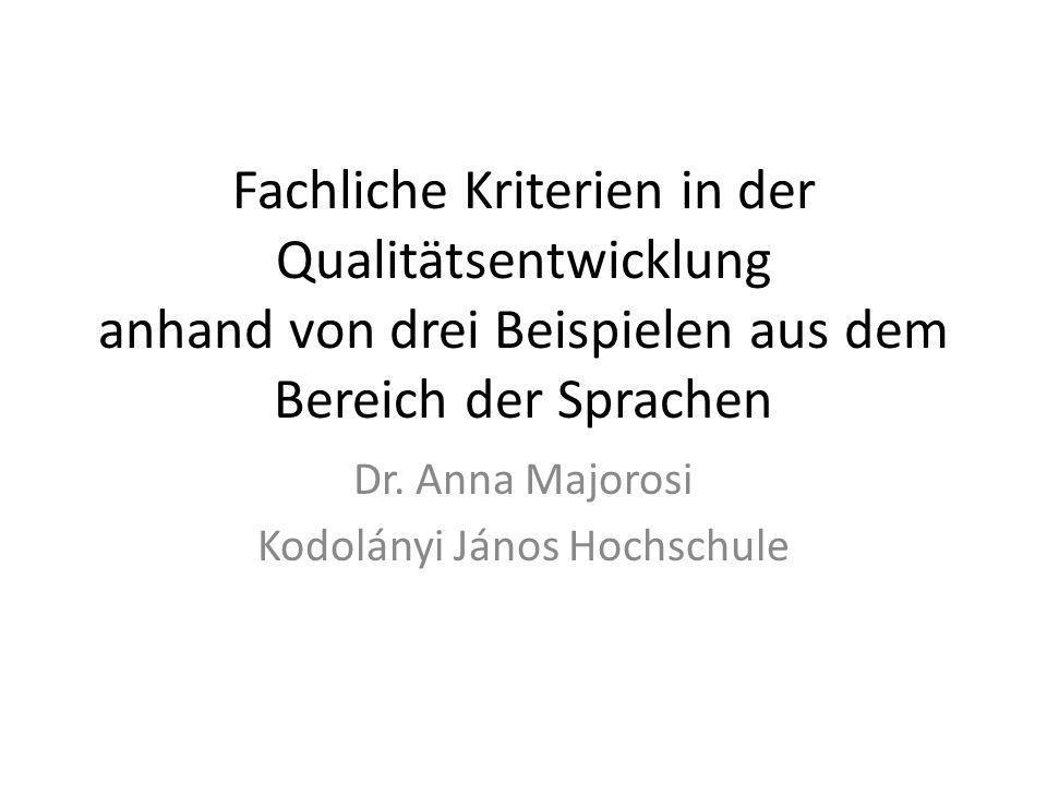 Dr. Anna Majorosi Kodolányi János Hochschule
