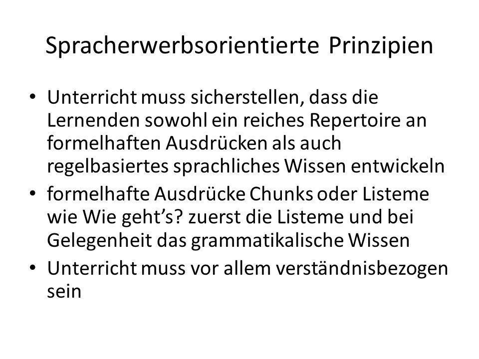 Spracherwerbsorientierte Prinzipien