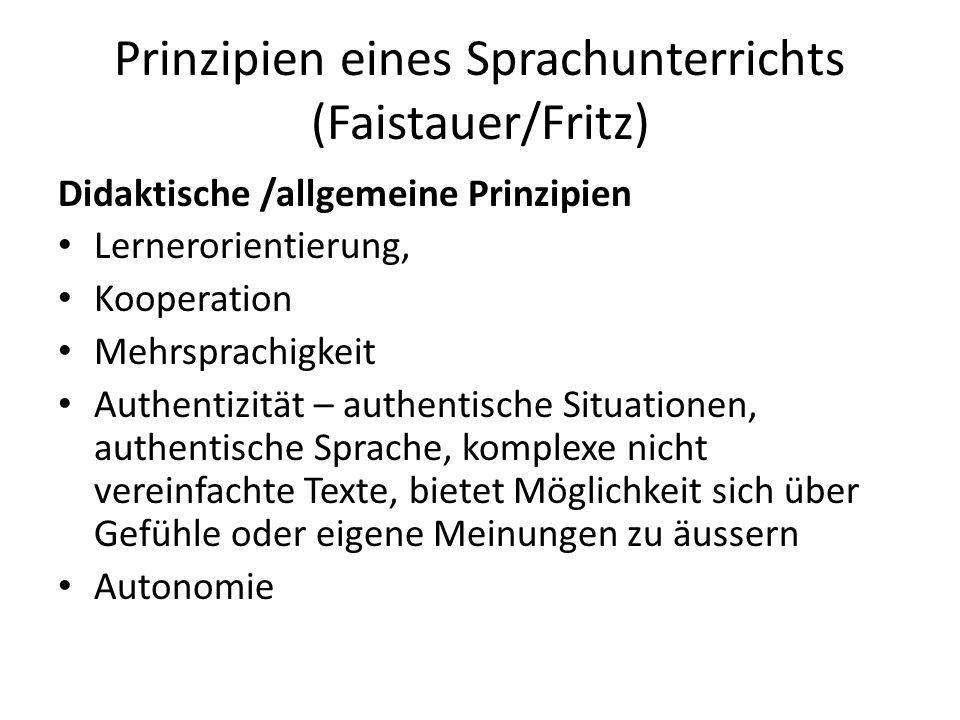 Prinzipien eines Sprachunterrichts (Faistauer/Fritz)