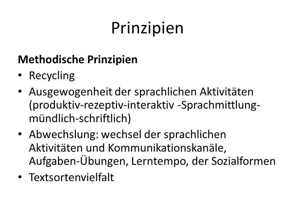 Prinzipien Methodische Prinzipien Recycling