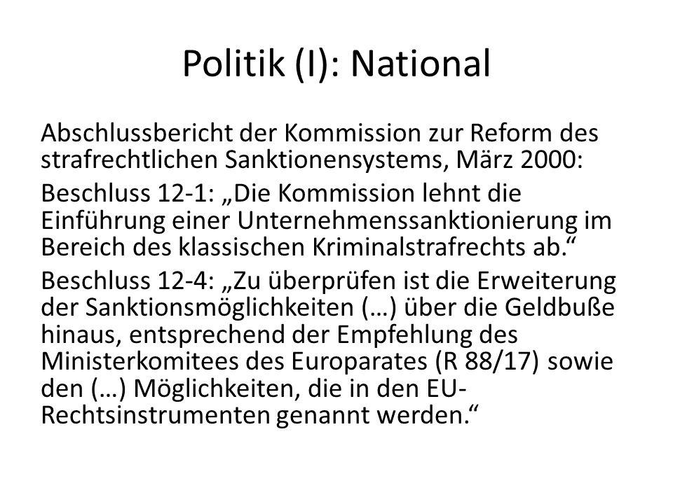 Politik (I): National