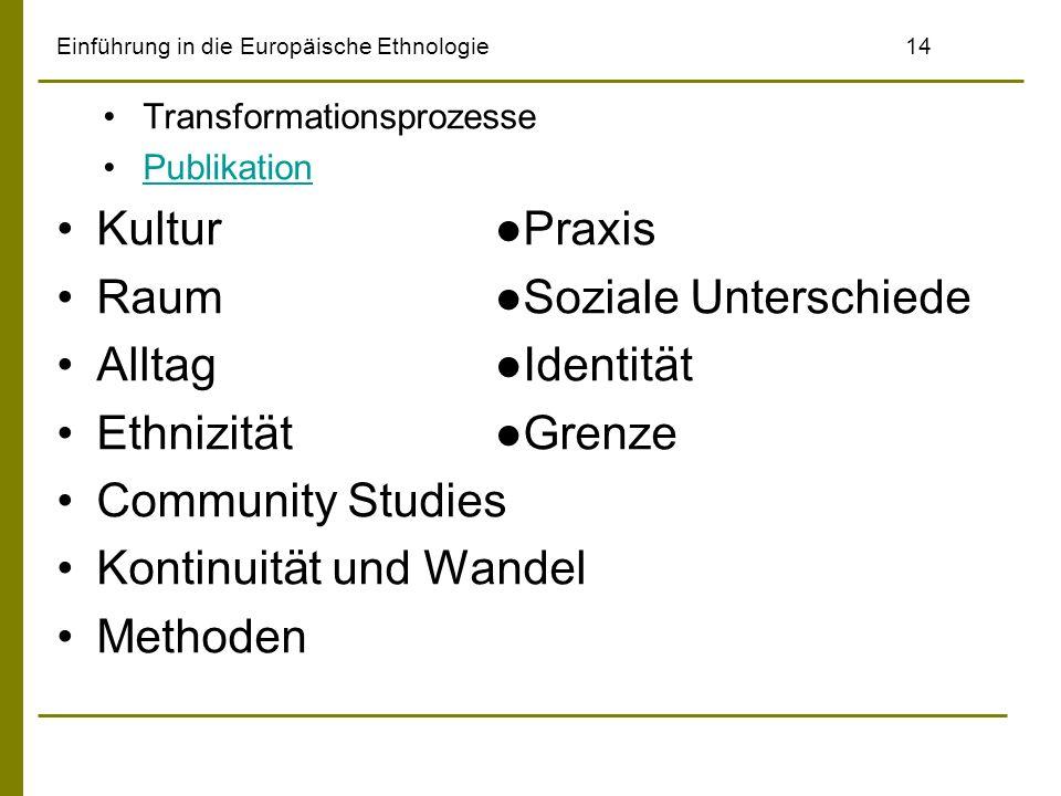 Einführung in die Europäische Ethnologie 14