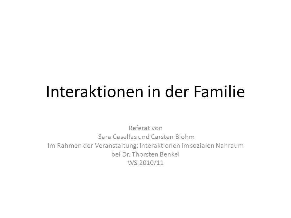 Interaktionen in der Familie