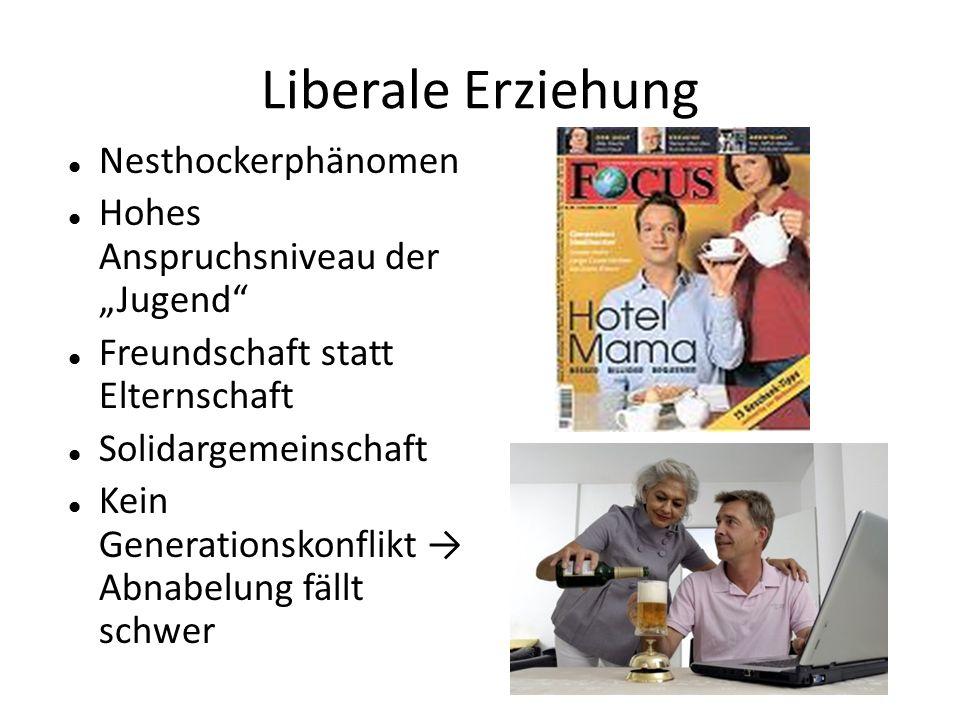 Liberale Erziehung Nesthockerphänomen