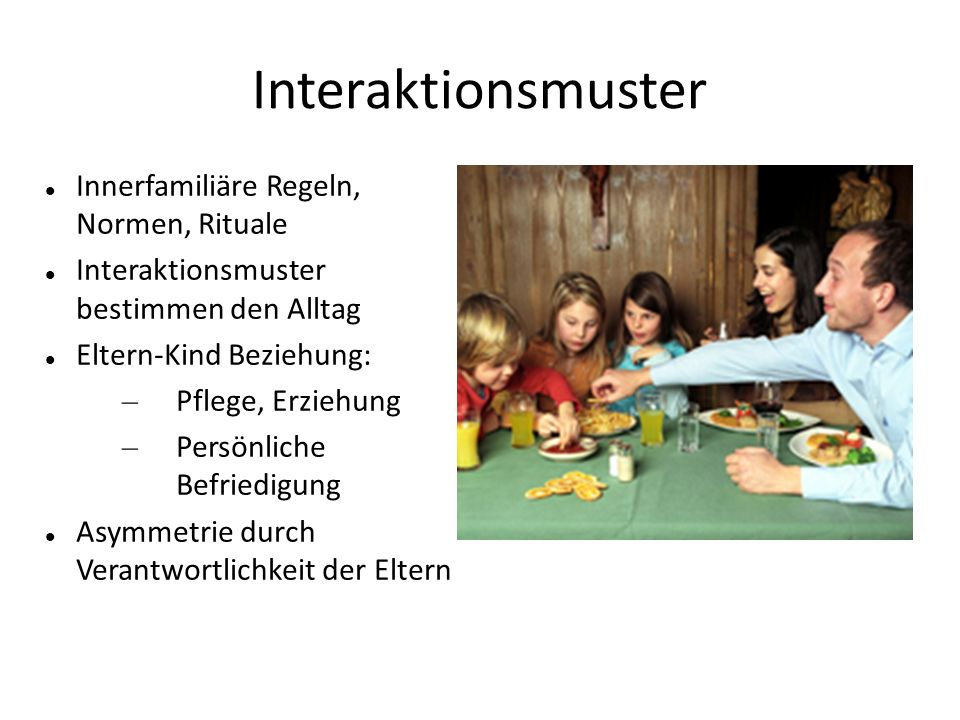 Interaktionsmuster Innerfamiliäre Regeln, Normen, Rituale