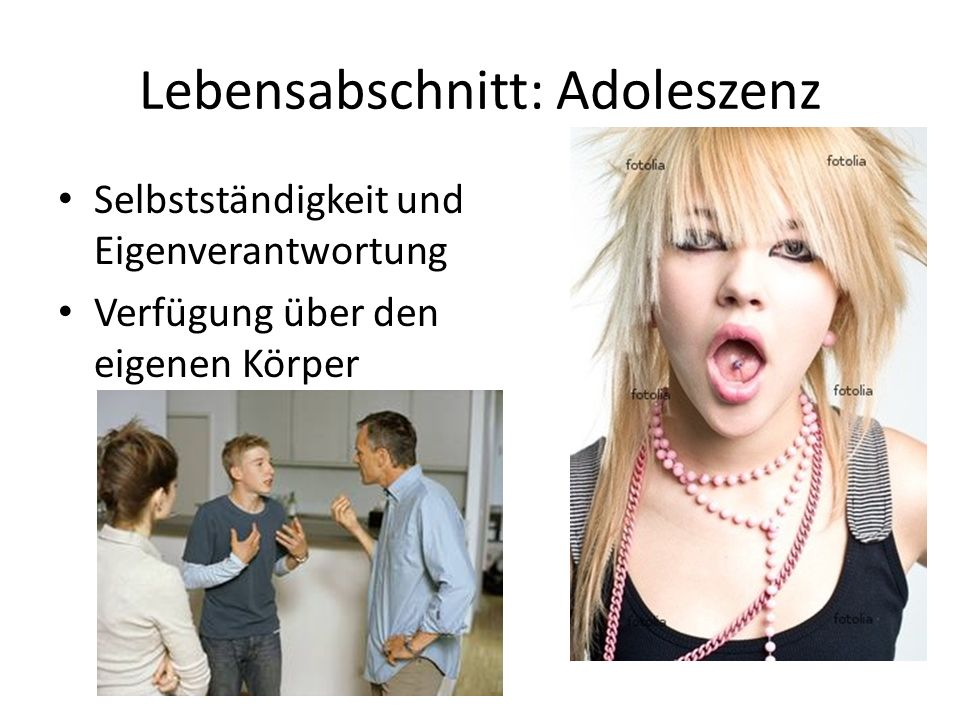 Lebensabschnitt: Adoleszenz
