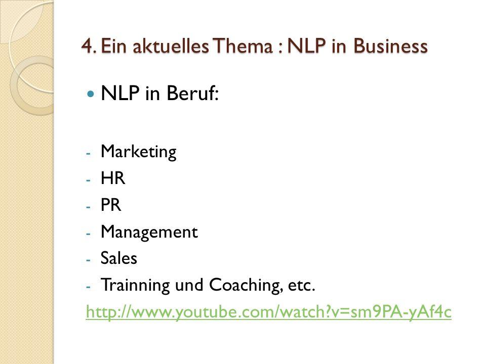 4. Ein aktuelles Thema : NLP in Business