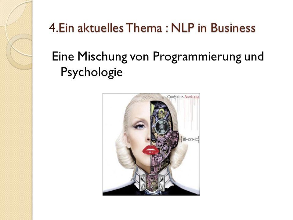 4.Ein aktuelles Thema : NLP in Business