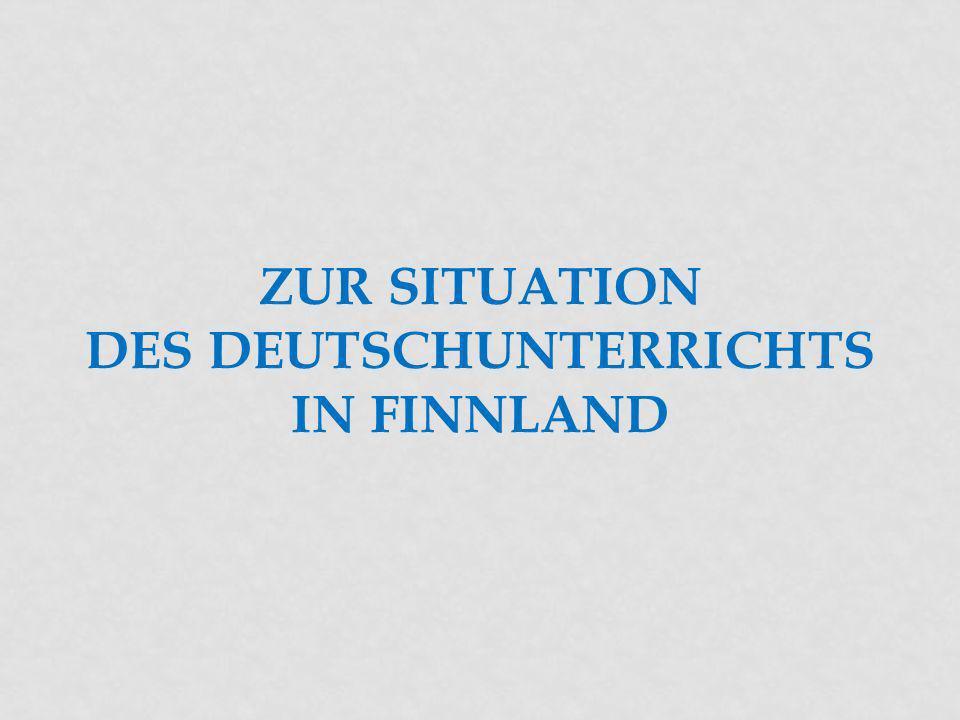 Zur Situation des Deutschunterrichts in Finnland