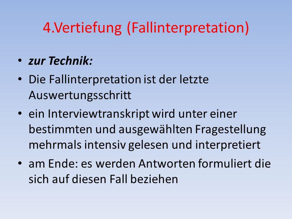4.Vertiefung (Fallinterpretation)