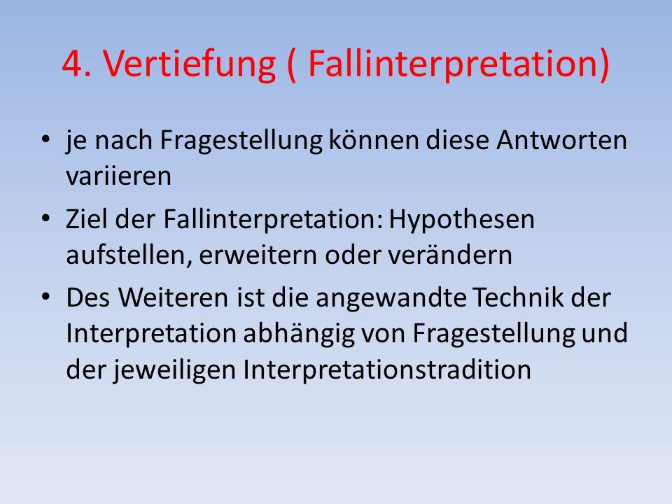 4. Vertiefung ( Fallinterpretation)