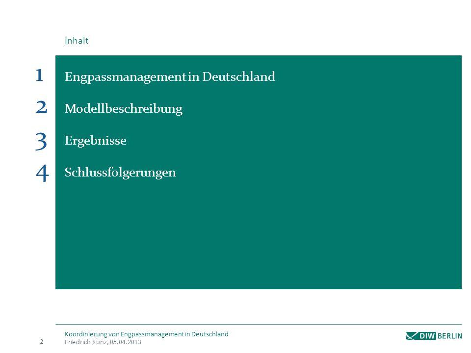 Engpassmanagement in Deutschland Modellbeschreibung Ergebnisse
