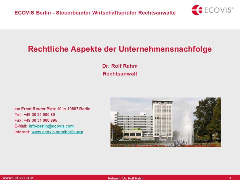 ECOVIS Berlin - Steuerberater Wirtschaftsprüfer Rechtsanwälte