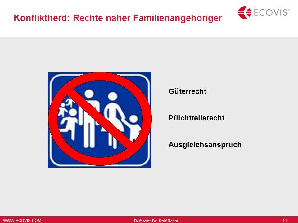 Konfliktherd: Rechte naher Familienangehöriger