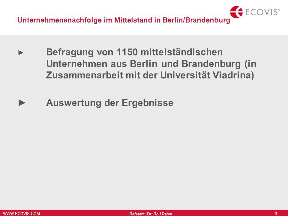 Unternehmensnachfolge im Mittelstand in Berlin/Brandenburg