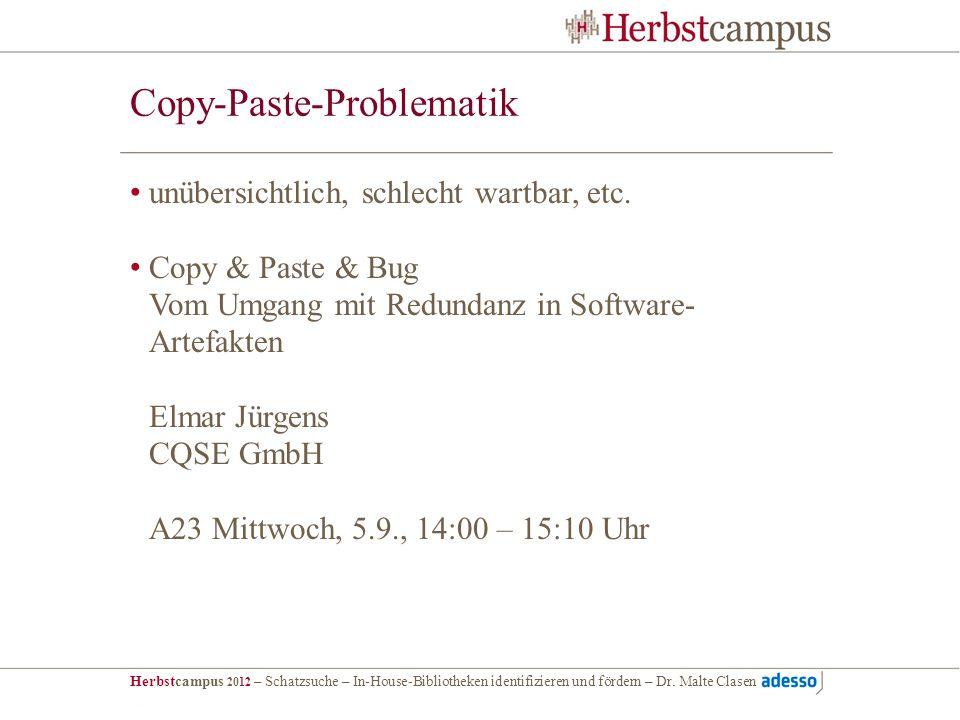 Copy-Paste-Problematik