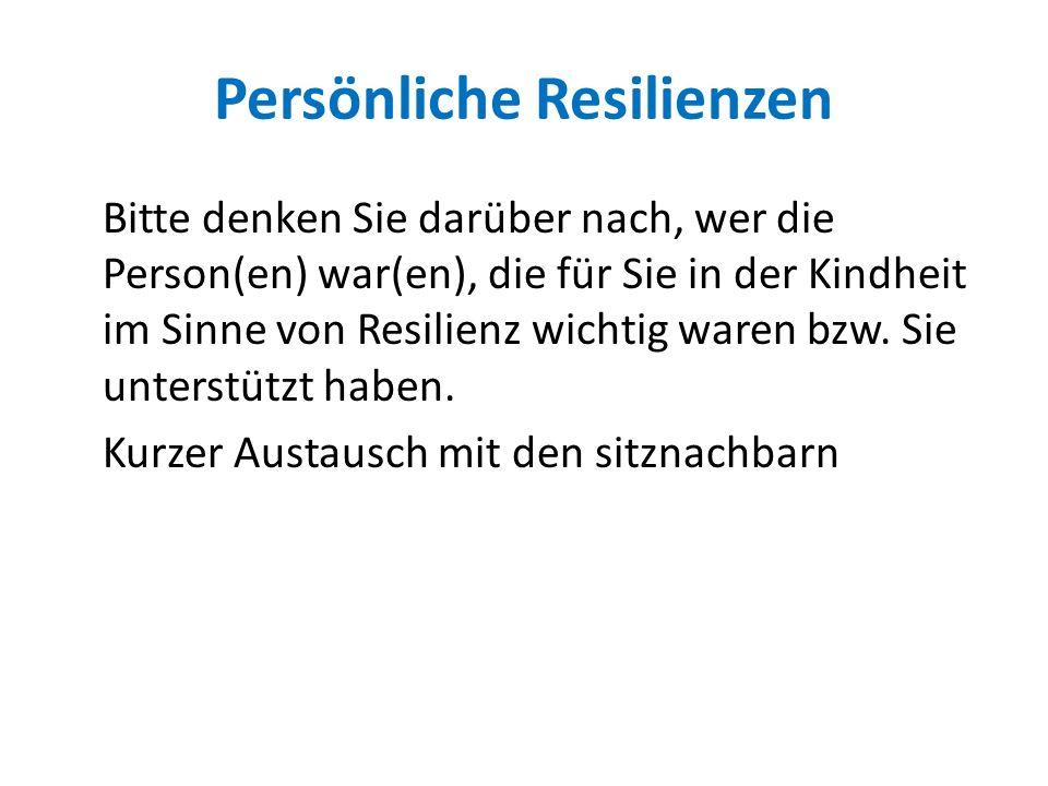 Persönliche Resilienzen