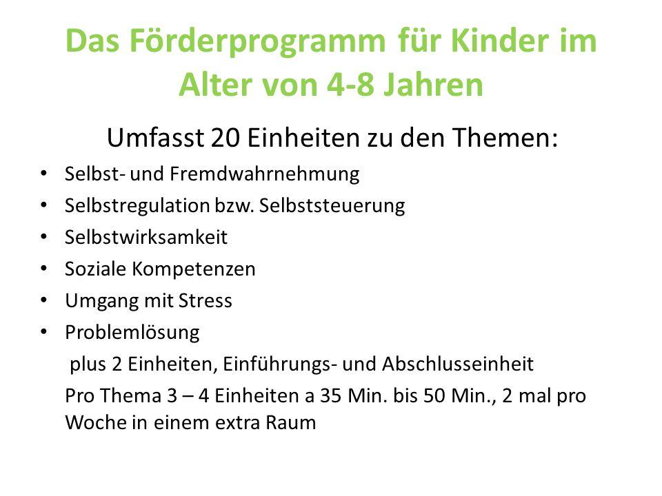 Das Förderprogramm für Kinder im Alter von 4-8 Jahren
