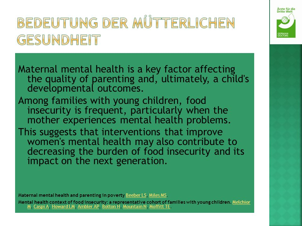 Bedeutung der mütterlichen Gesundheit
