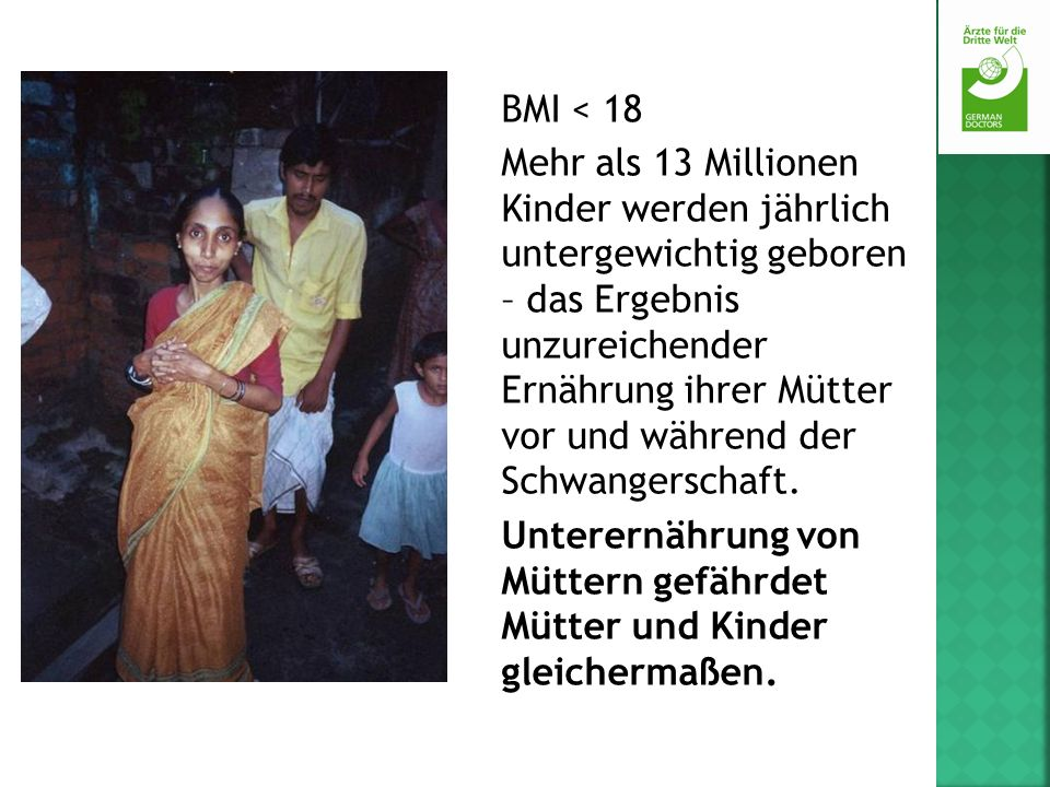 BMI < 18