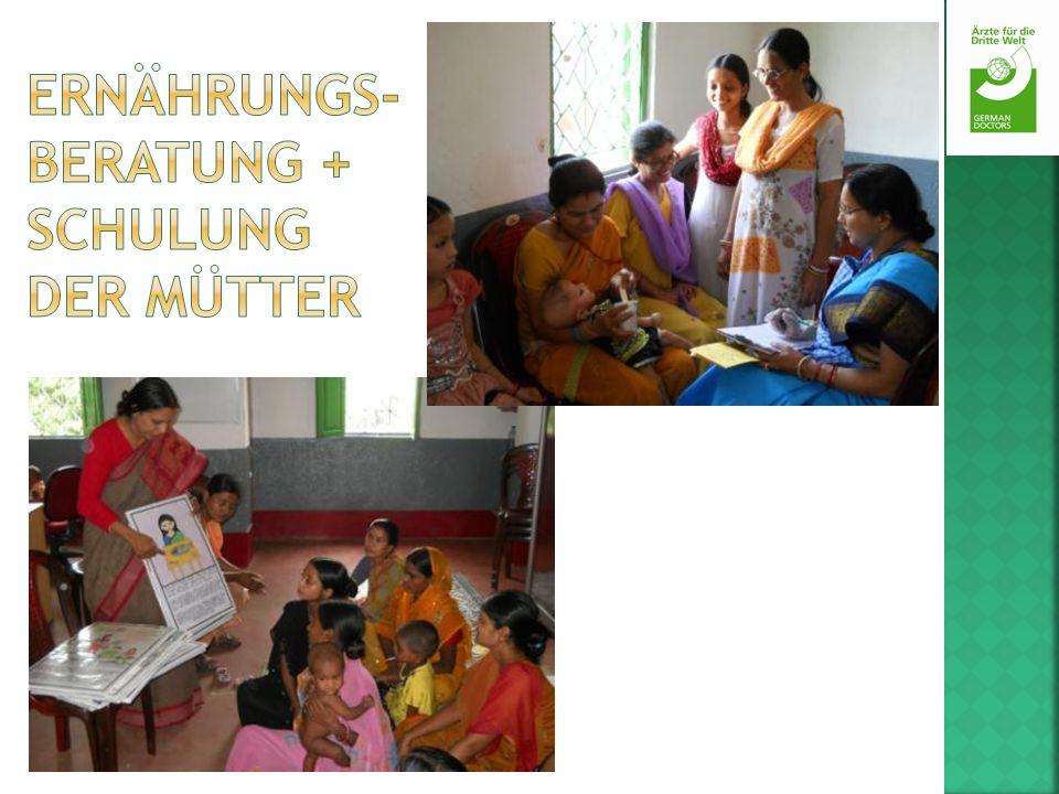 Ernährungs-beratung + Schulung der Mütter