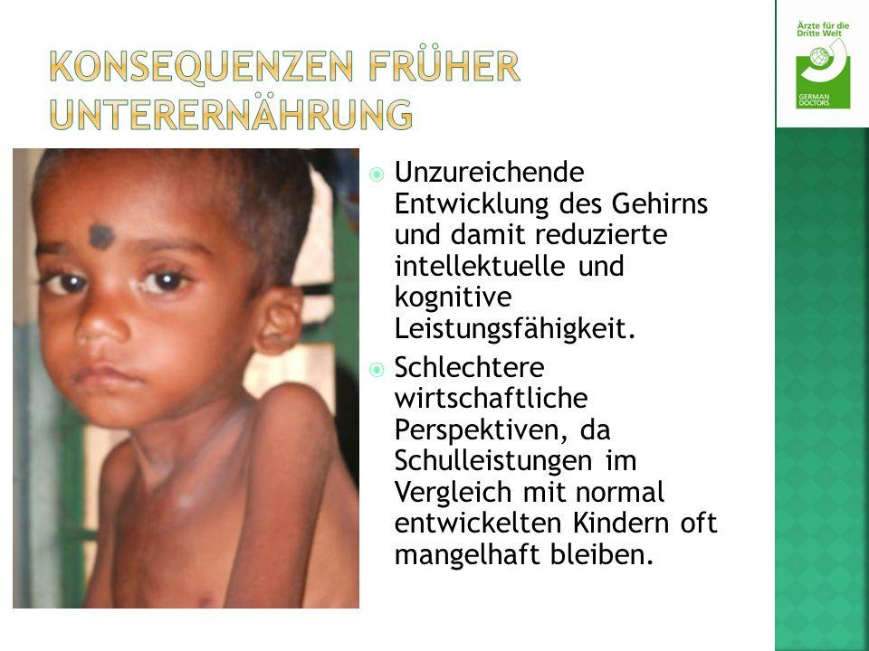 Konsequenzen früher Unterernährung