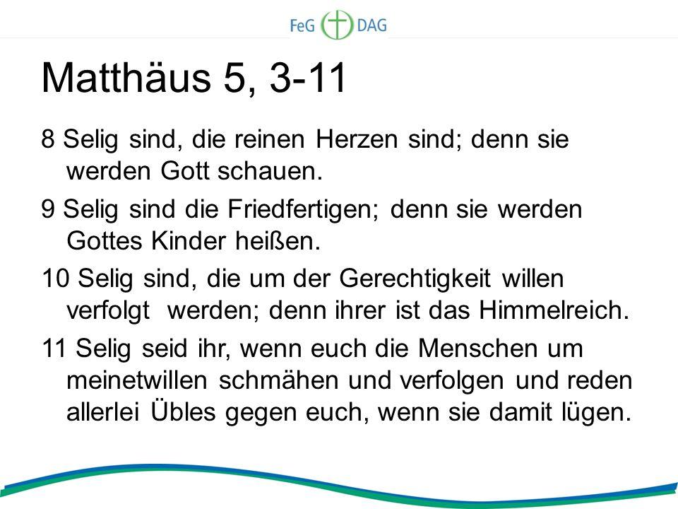 Matthäus 5, 3-11