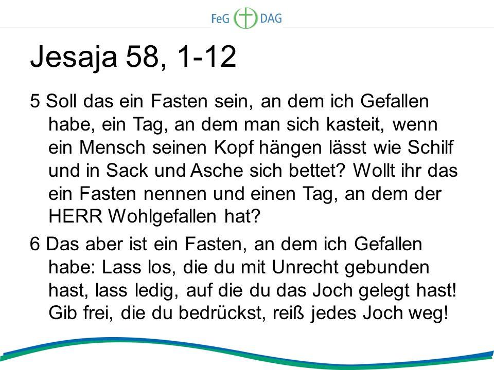 Jesaja 58, 1-12
