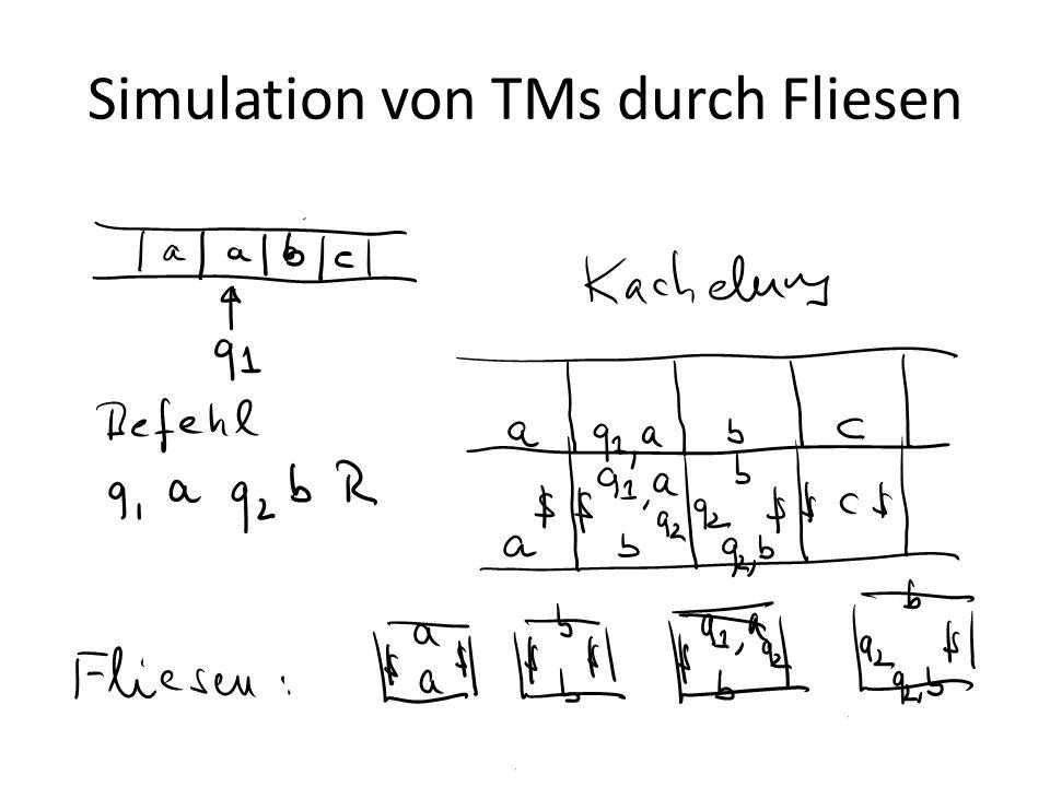 Simulation von TMs durch Fliesen