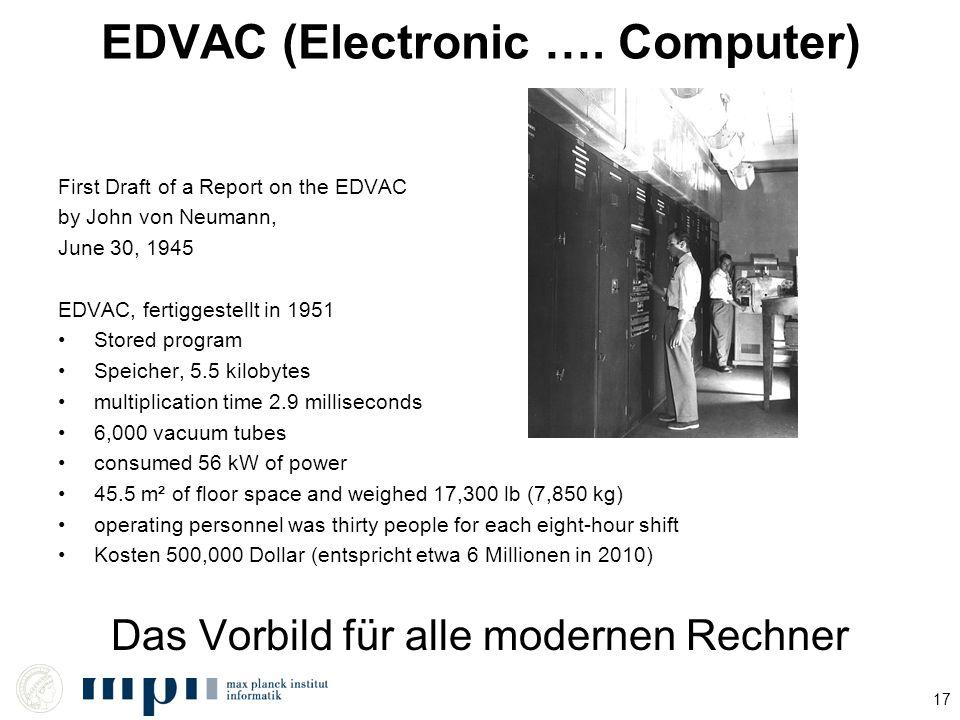 EDVAC (Electronic …. Computer)