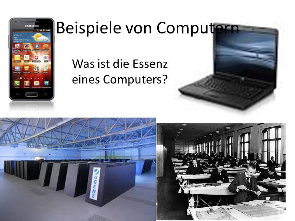 Beispiele von Computern