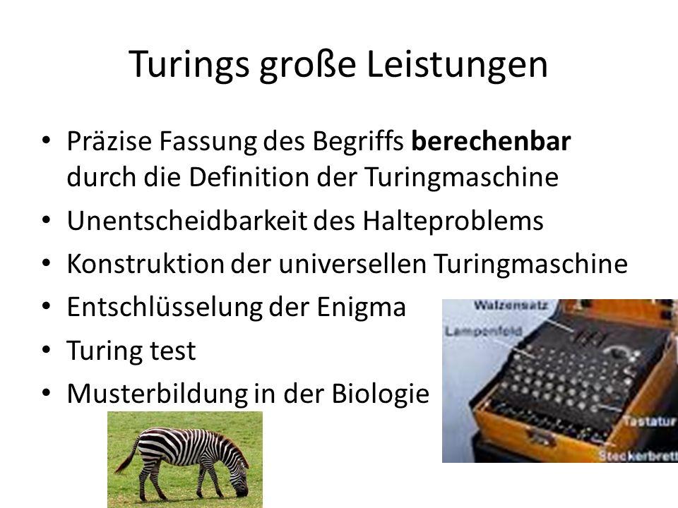 Turings große Leistungen