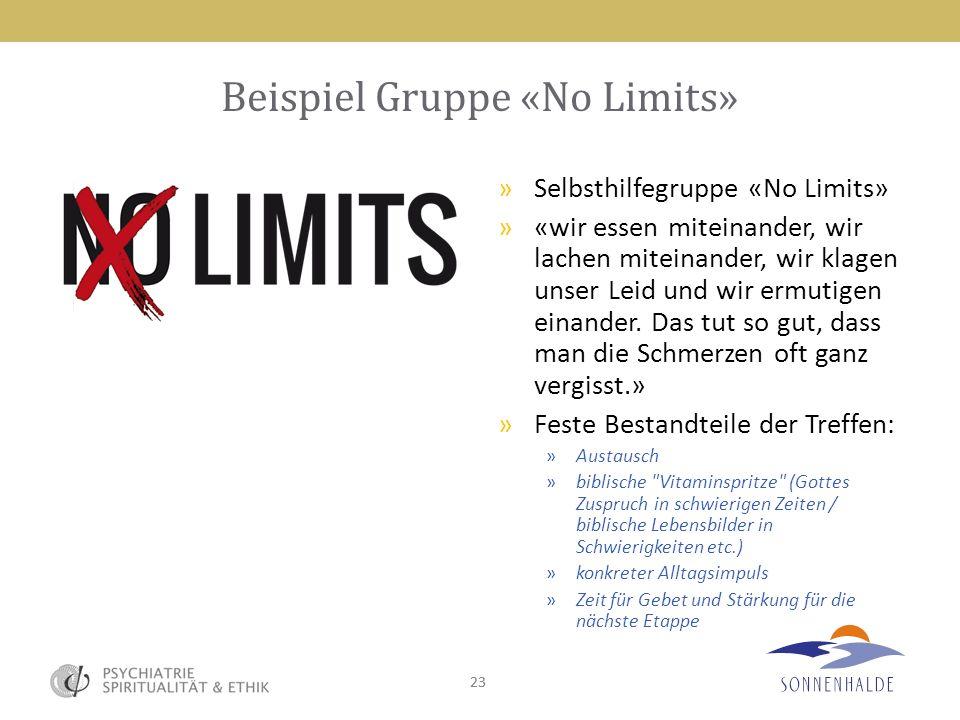 Beispiel Gruppe «No Limits»